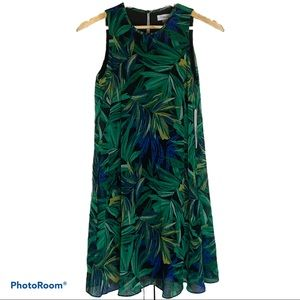 Women's Calvin Klein palm leaf sleeveless dress